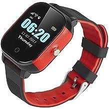 Reloj Inteligente Inteligente Pulsera Anti-Perdida Impermeable Reloj para Niños GPS Brújula WiFi lbs Posicionamiento