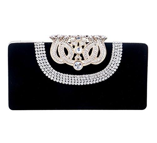 tina-womens-rhinestone-diamond-studded-crown-evening-prom-wedding-clutch-purse-black