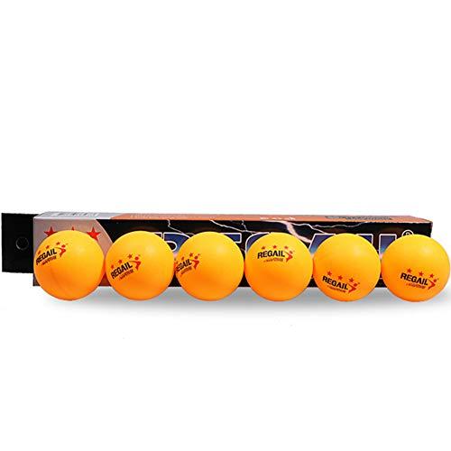 NiceButy 6Pcs 3 Sterne Plus 40mm Orange Tischtennis, Tennis Weiterbildung Tisch gelb Outdoor-Produkte Sport