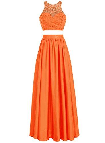 Bbonlinedress Robe de cérémonie Robe de bal longue deux pièces Orange