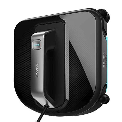 Cecotec Conga WinDroid 970. Navegación inteligente detecta los límites de la ventana, Mopa vibratoria, Limpieza en 5 etapas, Diseño cuadrado. 5 modos de limpieza, Sist. seguridad