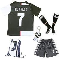 2019/2020 Juventus #7 Cristiano Ronaldo Heim Kinder Fußball Trikot Hose und Socken Kindergrößen