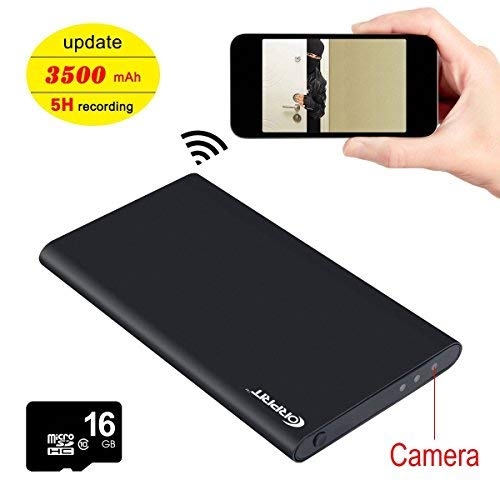 Corprit HD 1080P Ultra-thin 2500mAh Power Bank Hidden Camera USB Wifi Recorder Portable Power Mobile Power Spy Security…