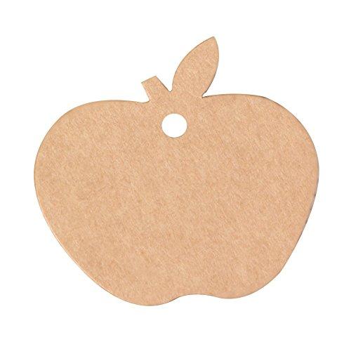 outflower 100Creative Apple Modeling Papier Label Eve Aufhängen handgefertigt Anhänger Bürobedarf Student Schreibwaren handbemalt Lesezeichen Weihnachten Geschenk (Hand Bemalt Apple Von)