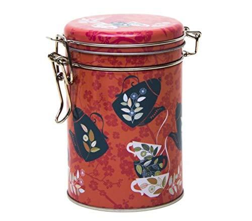 Orange blossom–Retro/Vintage Style runde Teedose/Kaffeedose/Küche Blechdose/Vorratsdose...