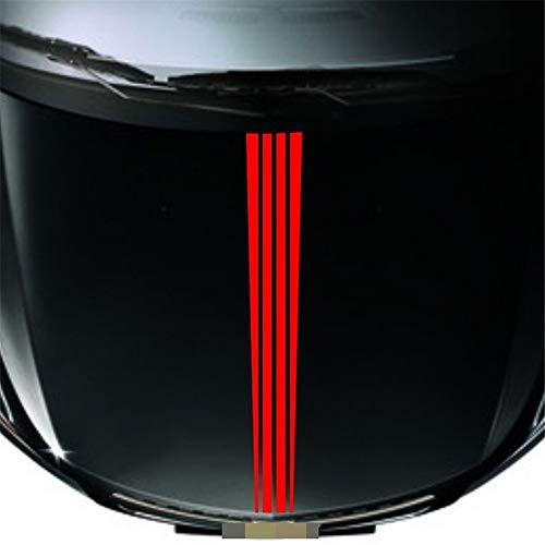 wandaufkleber 3d Wandtattoo Schlafzimmer Car Racing Rally Stripes Red Hood Decals Coole Grafiken Autozubehör Frontaufkleber 140Cm * 15Cm
