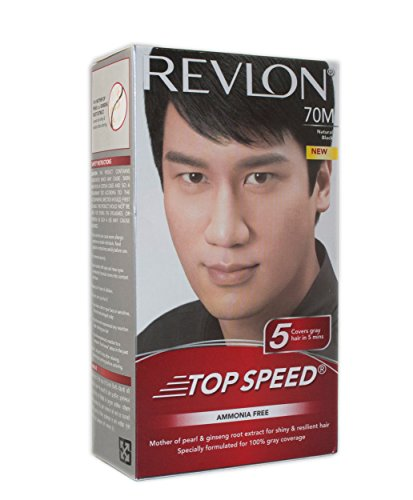 Revlon Top Speed Hair Color Man, Natural Black 70, 100 g