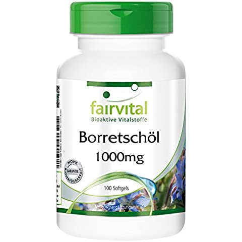 Fairvital - Olio di borragine 1000mg -