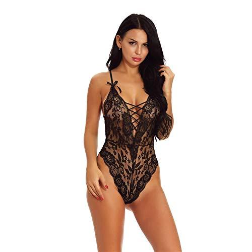 DRAULIC Dessous Frauen Sexy Dessous Plus Size Perspektive Spitze Sex Erotik Unterwäsche Halter ()