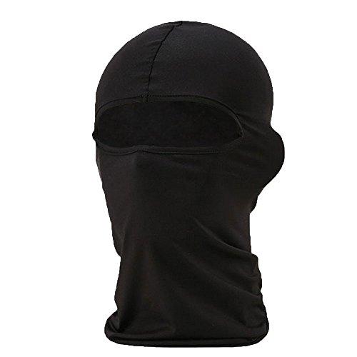 niceEshop(TM) Ultra Dünn Ski Fahrrad Gesichtsmaske Sport Fußball Helm (Schwarz) - Fußball-helm-maske