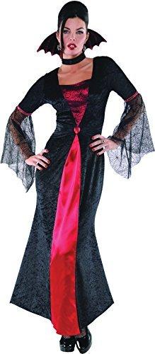 M Damen Gräfin Vampiretta Kostüm für Dracula Kostüm Outfit (Weibliche Dracula Kostüm)