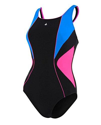 Aqua Sphere Damen Wettkampf-badeanzüge Chelsea Women, Schwarz/Blau, 40, SW121014040