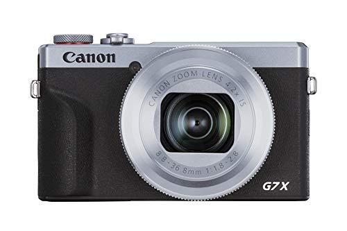 Canon PowerShot G7 X Mark III (20,1 MP, klappbares 7,5 cm (3,0 Zoll) Touchscreen-LCD, 4,2-Fach optischer Zoom,WLAN, 4K), Silber