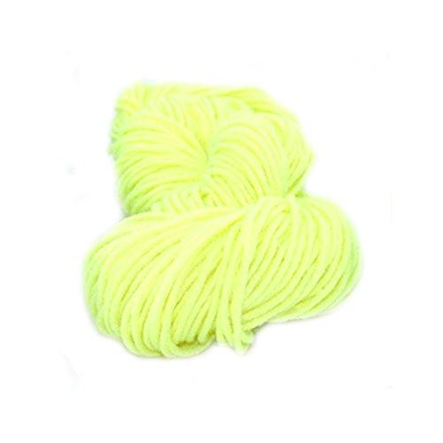 Strickwolle DIY Faden gewebt Polyester Garn Hand gehäkelte Decke Elastic gelb fluoreszierend