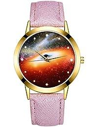 4e2f2605b87c POJIETT Relojes Hombre Mujer Juveniles Chica Chico Moda Reloj Pulsera de  Cuero Reloj de Cuarzo Analogico Relojes Deportivos Agujero…