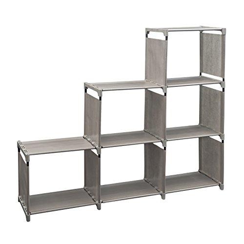 Newdora 3 Tier Lagerung Cube Closet Organizer Shelf Cabinet Bücherregal Schuh Rack, 6 Cube Organizer Schrank, schwarz 6-tier-bücherregal