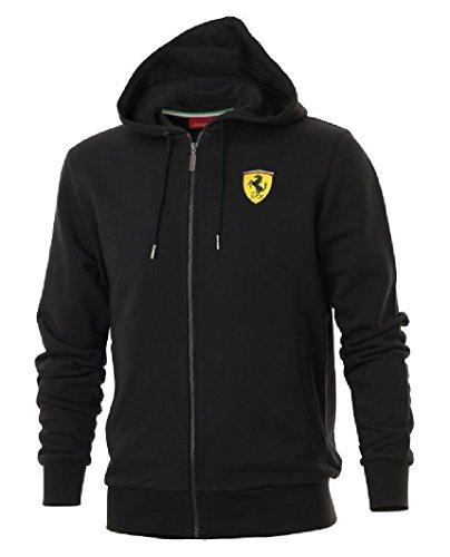 ferrari-mens-hooded-sweat-jacket-red-black-xs-s-xl-xxl-xx-large-black