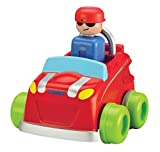 TOMY Babyspielzeug Flinkes Auto Mehrfarbig - Hochwertiges Kleinkindspielzeug zum Schieben - vereint Spielzeugauto & Motorikspielzeug - ab 12 Monate