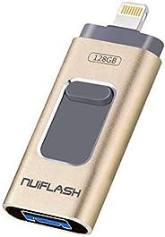 128GB USB Stick für iPhone, USB Stick Externer Speicher Speichererweiterung Verschlüsselte Speicherstick für iOS und Android