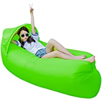 JINYJIA Lazy Lounger Sleeping Bag, Portable Outdoor Indoor Air Sleep Sofa Laybag Couch Bed, Nylon Waterproof Collapsible, Beanbag for Lounging, Summer Camping, Beach, Fishing