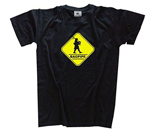 Bagpipe Dudelsack Bagpiper Crossing Kids Shirt Kinder-Shirt Schwarz 164