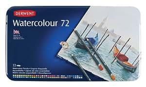Derwent Watercolour Pencils Tin - Multicoloured, Set of 72