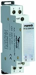 Télérupteur électromécanique 12V 2 contacts 2 séquences 1 DIN