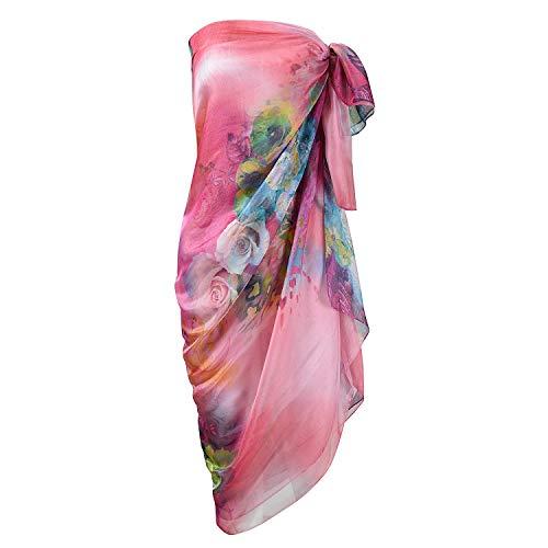 UK_Stone Damen Übergroesse Modisch Sarong Pareo Strandtuch Wickeltuch Bikini Sonnenschutz Decke Cover-up (3#)
