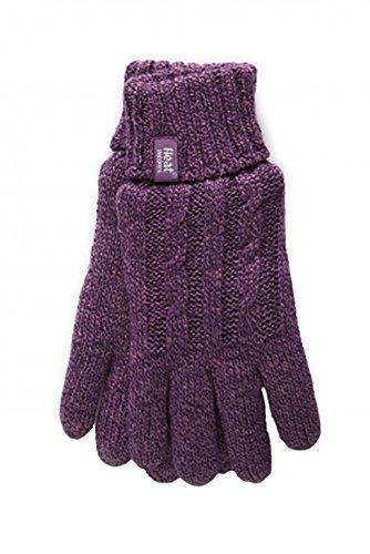 HEAT HOLDERS - Damen Thermisch Winter Handschuhe in 7 Farben (S/M, Lila)