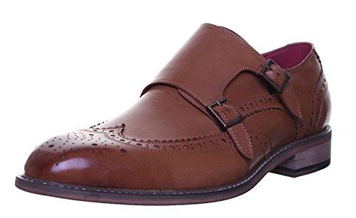 Justin Reece Jackson, Chaussures de Ville à Lacets Pour Homme Marron