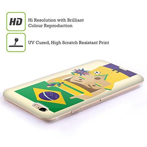 Head Case Designs Nigeria Viva Il Calcio Cover Morbida In Gel Per Apple iPhone 7 / iPhone 8 Brazile