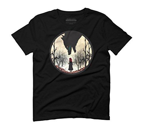 Red Ridding Hood Men's Graphic T-Shirt - Design By Humans Black