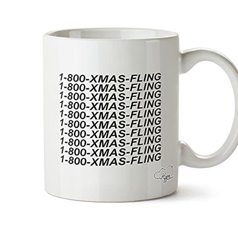 hippowarehouse Weihnachts Fling 283,5Tasse, keramik, weiß, One Size (10oz)