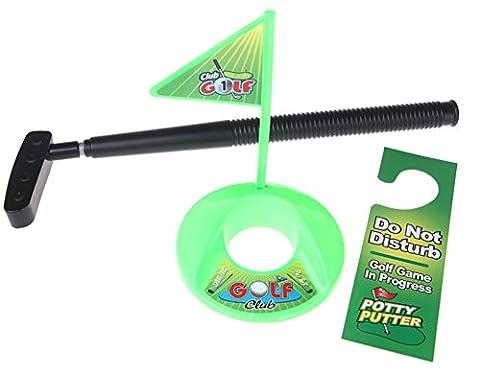 Mini balles de golf Tapis de salle de bain wc Inscription saysure–Potty Putter Jeu de