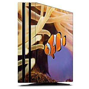 DeinDesign Skin kompatibel mit Sony Playstation 4 Pro Aufkleber Folie Sticker Anemonenfisch Clownfisch Nemo Fisch