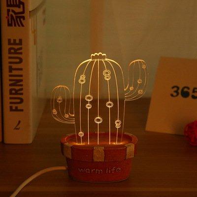 HTAIYN Led Transparent Kaktus Geformte LED Nachtlicht Romantik Lampe Kinder Geschenk Für Festival Dekorationen Dekoration Lampe