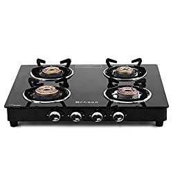Faber Cooktop / Gas Stove Splendor-4BB BK Black Toughened Glass