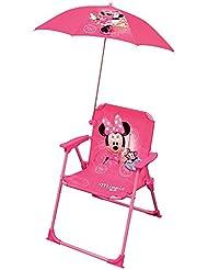 Fun House Minnie Stuhl klappbar + Sonnenschirm Mädchen, rosa