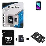 K-S-Trade für Samsung Galaxy J1 Mini Prime 2016 Duos SDHC Micro SD Karte + SD-Karten-Adapter 2in1 Flash Speicherkarte 8GB Klasse 10 Class 10 C10 U1 V10 HC SDHC Higspeed Memorycard Speicherkarte 10MB/sek für Samsung Galaxy J1 Mini Prime 2016 Duos