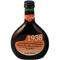 """Bocksbeutel zum 80. Geburtstag """"Jahrgang 1938"""" 0,25 l Franken Qualitätswein"""