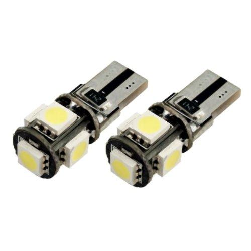 T105W - Blanc Canbus SMD LED lampe ampoule de rechange feux de position W5W T10 12V éclairage de plaque d'immatriculation éclairage intérieur 5xSMD LED