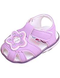 La Vogue Zapatos de Bebé PU Estrella Antideslizante para Primeros Pasos Blanco Talla 12 GIR5vH
