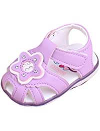 La Vogue Zapatos de Bebé PU Estrella Antideslizante para Primeros Pasos Blanco Talla 12