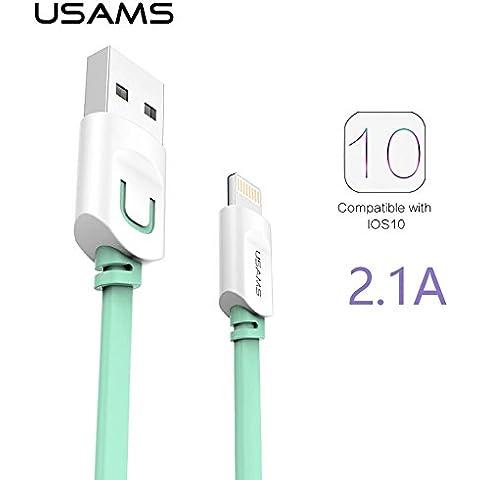 Cable Micro USB, diseño de 150 cm, diseño de rayas de nailon trenzado-enmallándolos, con conectores de pvc rígido, para smartphones Android, Samsung, HTC, Nokia, Sony y otras soluciones | Net Solutions ®