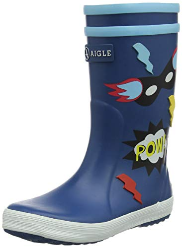 Aigle Unisex-Kinder Lolly Pop Gummistiefel, Blau (Superheros 001), 30 EU