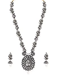 Zaveri Pearls Jewellery Set For Women (Silver)(ZPFK6806)
