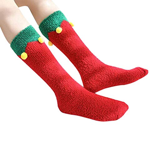 Doublehero Weihnachten Unisex Niedlich Socken Herbst Winter Warme Mode Herren Frauen Lange Elastische Socks Karikatur Tier Drucken Paar Stretch Weihnachtssocken ()