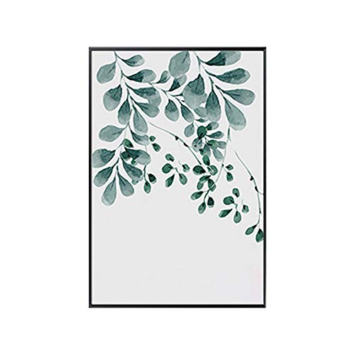 lerei Pflanzengrün Blätter Leinwandbild Kunst Poster Wand Büro Raumdekor 5# 30 * 40 cm ()