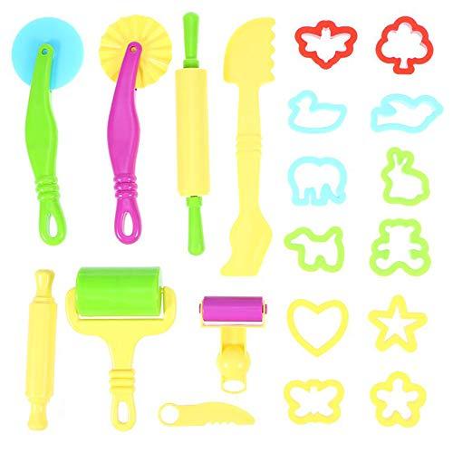 Eizur 20 pcs utensili per plastilina kit attrezzi per pasta di argilla pasta da modellare bambini giocattolo (colore casuale)