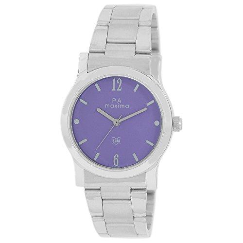 Maxima Analog Purple Dial Women\'s Watch-O-46663CMLI